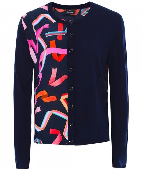 PS by Paul Smith Merino Wool Ribbon Front Cardigan