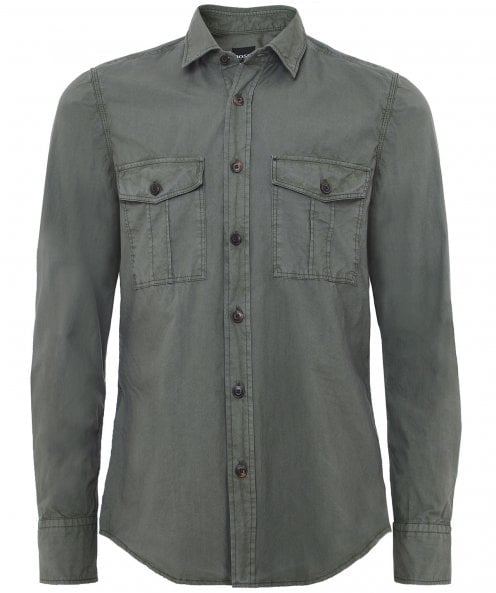 BOSS Regular Fit Rebus Shirt