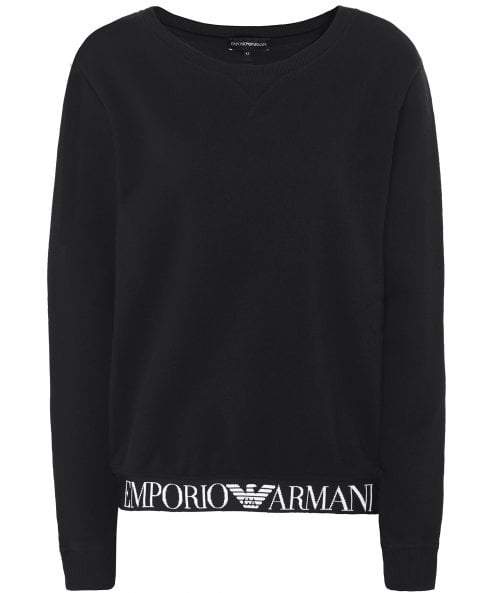Armani Logo Bottom Sweatshirt
