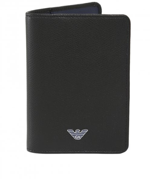 Armani Tumbled Leather Passport Holder