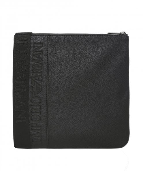 Armani Small Flat Messenger Bag