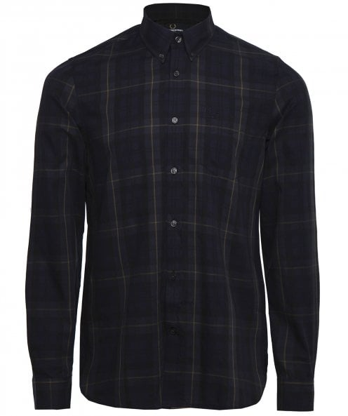 Fred Perry Contrast Stripe Tartan Shirt