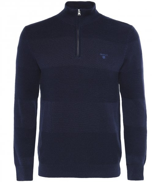 GANT Mixed Knit Half-Zip Jumper