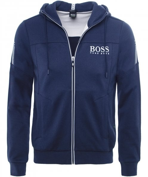 BOSS Regular Fit Zip-Through Saggy Hoodie