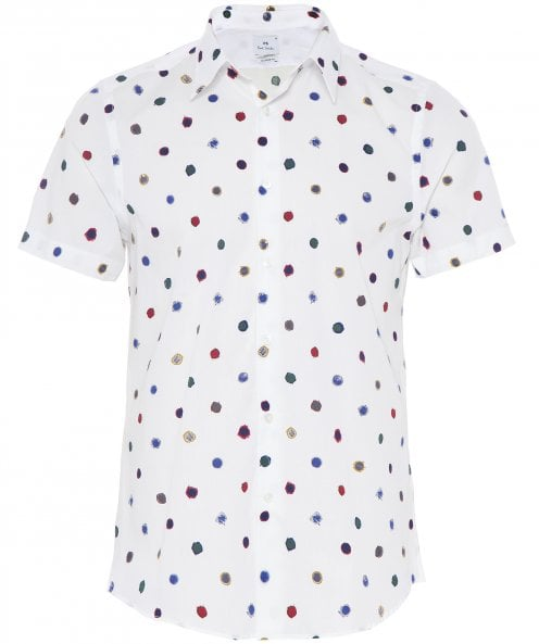 PS by Paul Smith Scribble Spot Short Sleeve Shirt