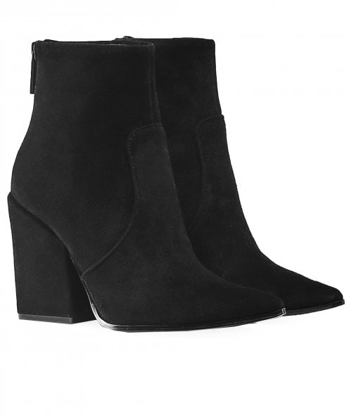 Kendall and Kylie Shoes Suede Fire Ankle Boots