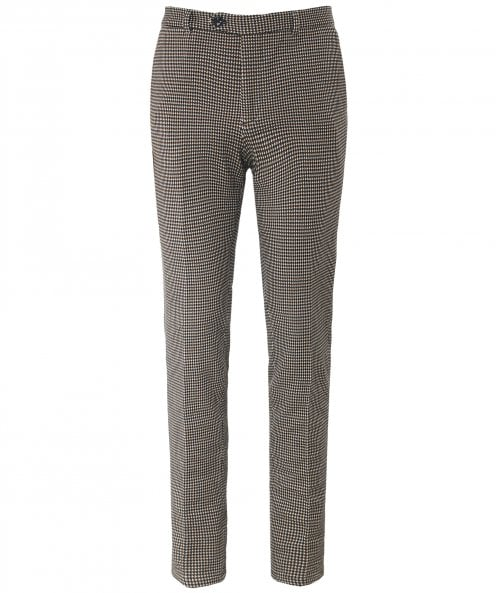 Circolo 1901 Slim Fit Jersey Houndstooth Trousers
