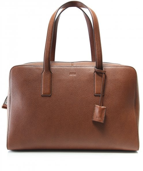 BOSS Business Grained Leather Crosstown_Holdall