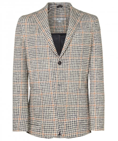 Circolo 1901 Stretch Cotton Houndstooth Jacket