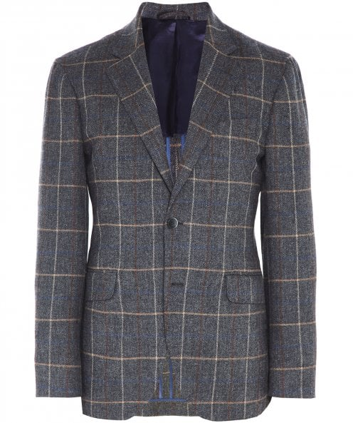 Hackett Wool Herringbone Check Tattersal Jacket