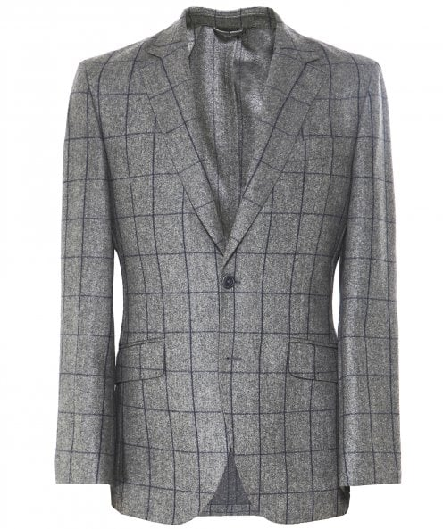 Hackett Flannel Wool Windowpane Check Jacket