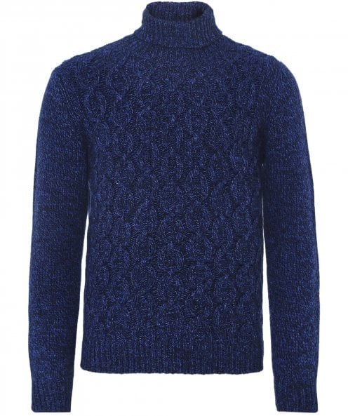 LBM 1911 Wool Blend Cable Knit Roll Neck Jumper
