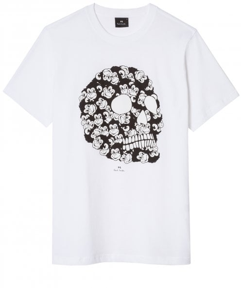 PS by Paul Smith Regular Fit Monkey Skull T-Shirt