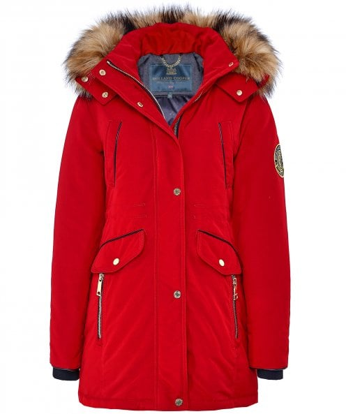 Holland Cooper Mountaineer Faux Fur Trim Parka
