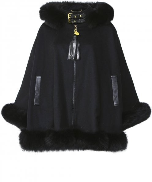 Holland Cooper Wool Gold Label Fur Cape