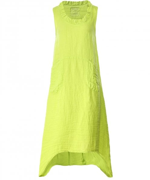 Grizas Linen Sleeveless Flared Dress