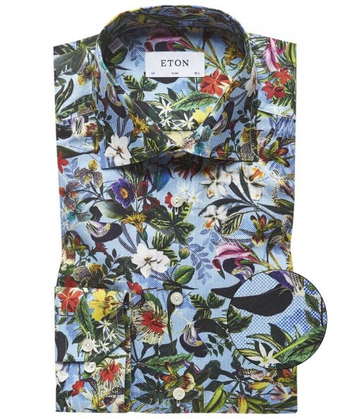 Eton Contemporary Fit Floral Shirt