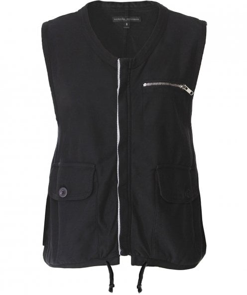 Lurdes Bergada Jersey Cotton Pocket Detail Gilet