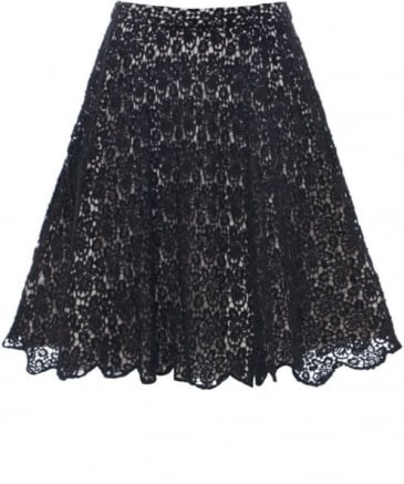 Embellished Lace Skirt
