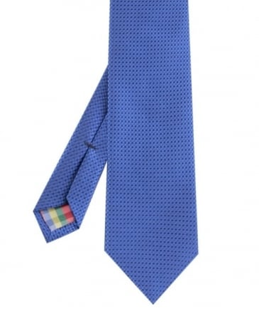 Textured Silk Square print Tie