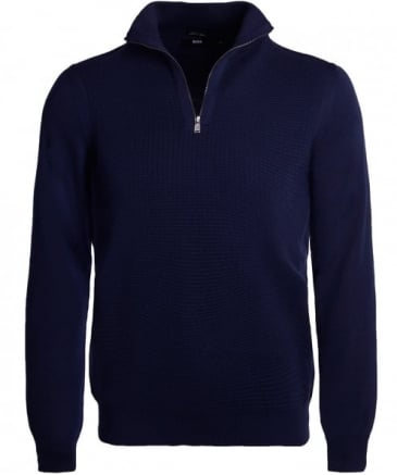 Wool Nacello Half Zip Jumper