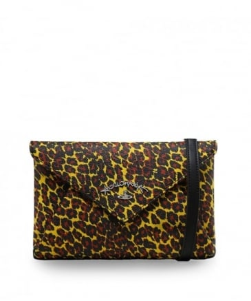 Leopard Print Envelope Clutch Bag