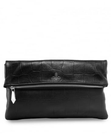 Saffiano Leather Canterbury Fold Clutch