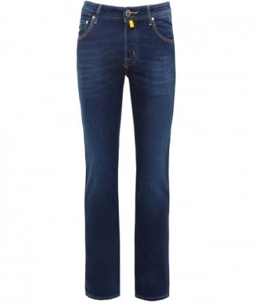 Slim Fit Wool Blend Jeans
