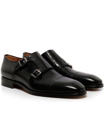 Leather Modena Double Monk Strap Shoes