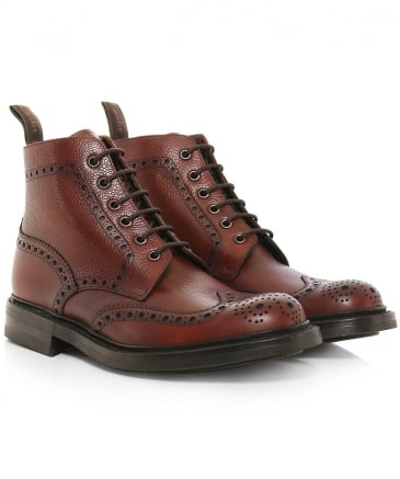 Grain Leather Bedale Brogue Boots
