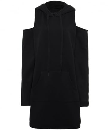 Cold Shoulder Hooded Dress