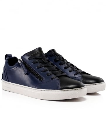 Leather Side Zip Java Trainers