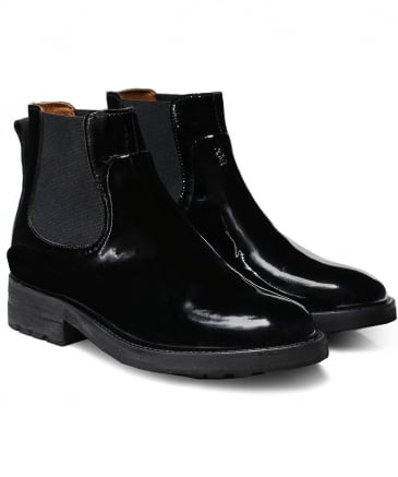 Patent Leather Carter Chelsea Boots