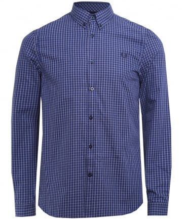 Basketweave Gingham Check Shirt