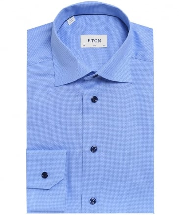 Slim Fit Patterned Twill Shirt