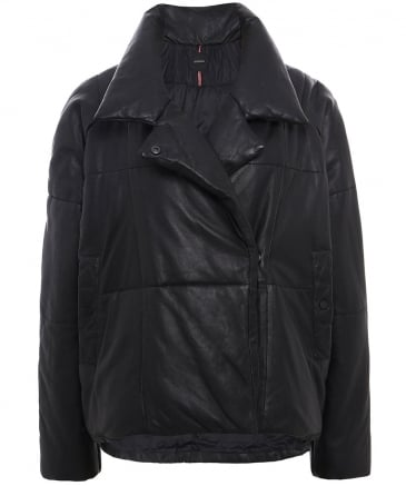 Leather Many Quilted Jacket