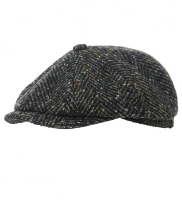 Virgin Wool Hatteras Herringbone Cap