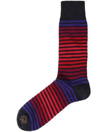 Wool Blend Royal Stripe Socks
