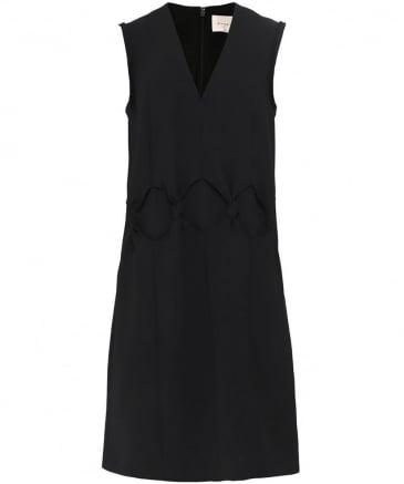 Front Knot V-Neck Dress