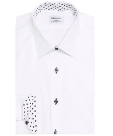 Slimline Polka Dot Trim Shirt