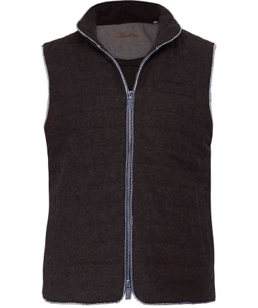Quilted Donegal Tweed Gilet