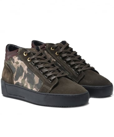 Suede Propulsion Mid Top Trainers