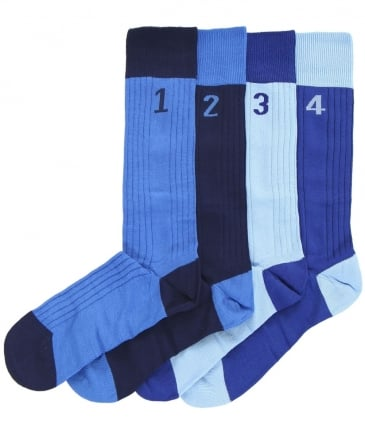 Four Pack of Numbered Socks