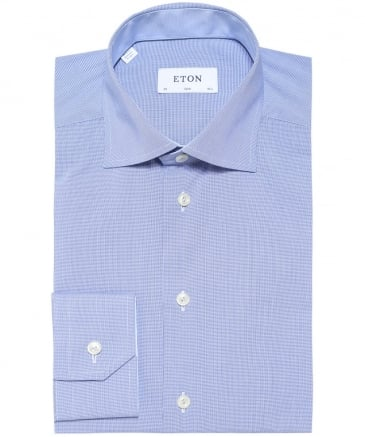 Slim Fit Micro Houndstooth Shirt