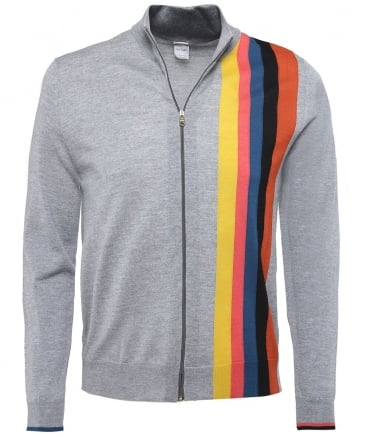 Merino Wool Zip-Through Cardigan