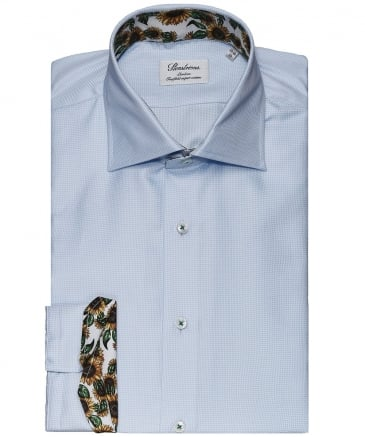Slimline Sunflower Trim Houndstooth Shirt