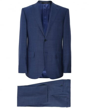 Virgin Wool Crosshatch Suit