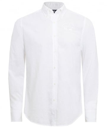 Slim Fit Linen Blend Raf Shirt