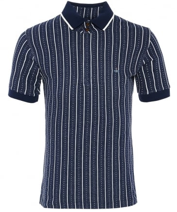 Textured Striped Polo Shirt