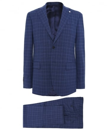 Wool Prince of Wales Check Suit